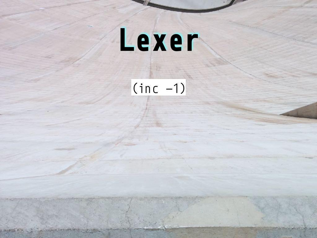 Lexer (inc -1)