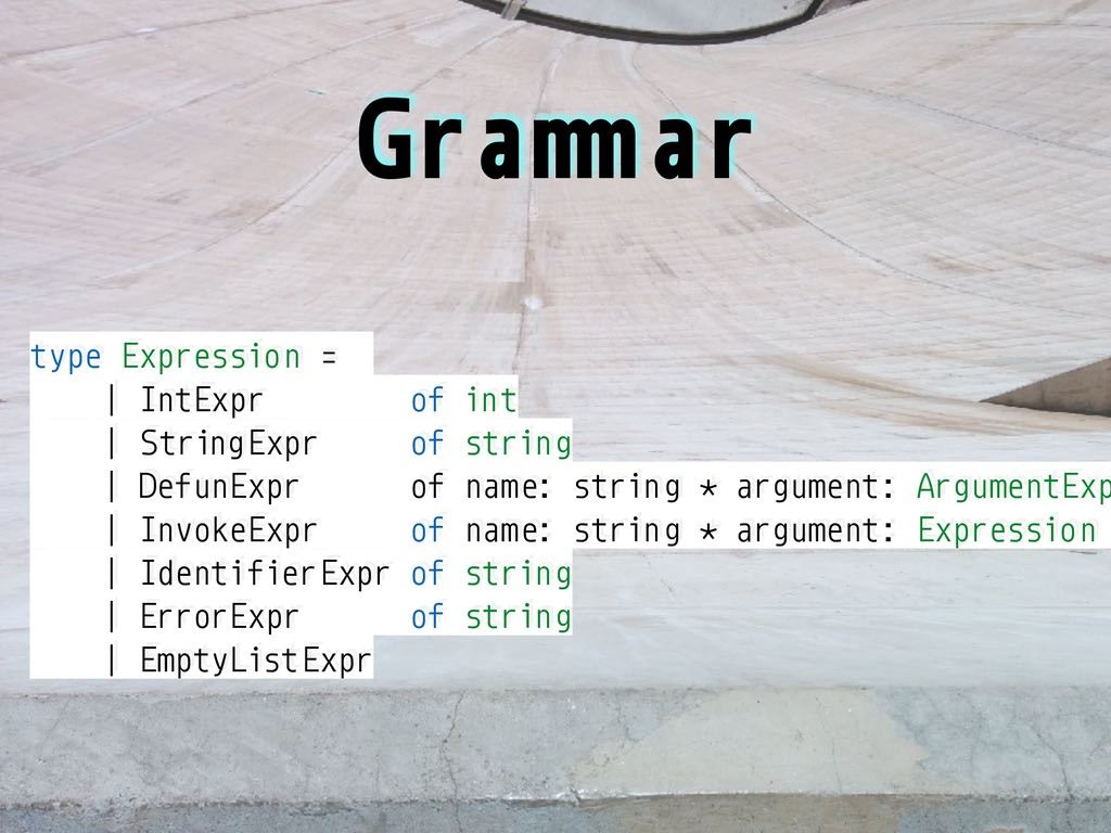 """Gra""""#ar type Expression = 