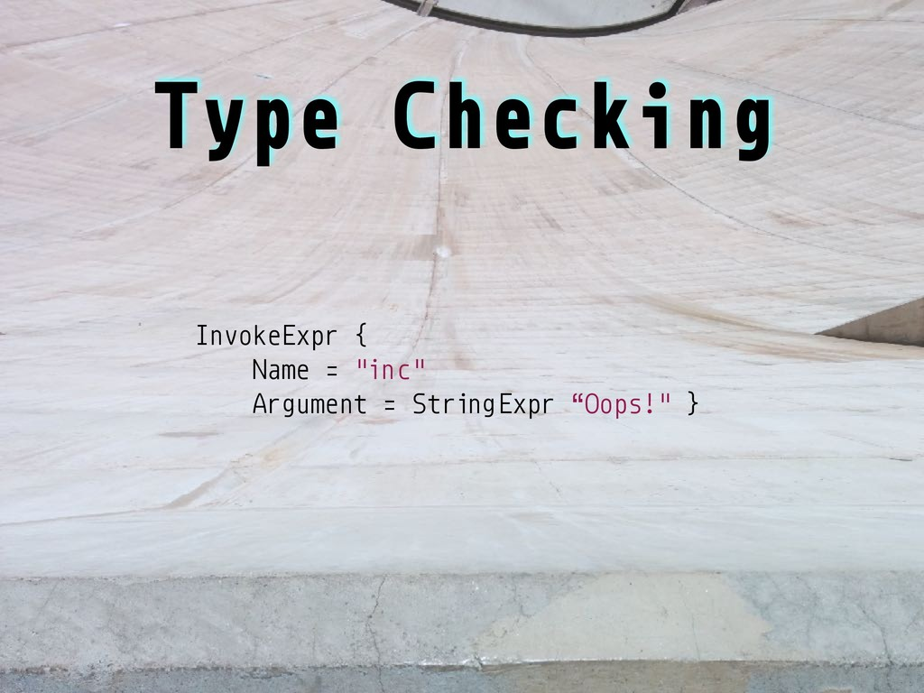 """InvokeExpr { Name = """"inc"""" Argument = StringExpr..."""