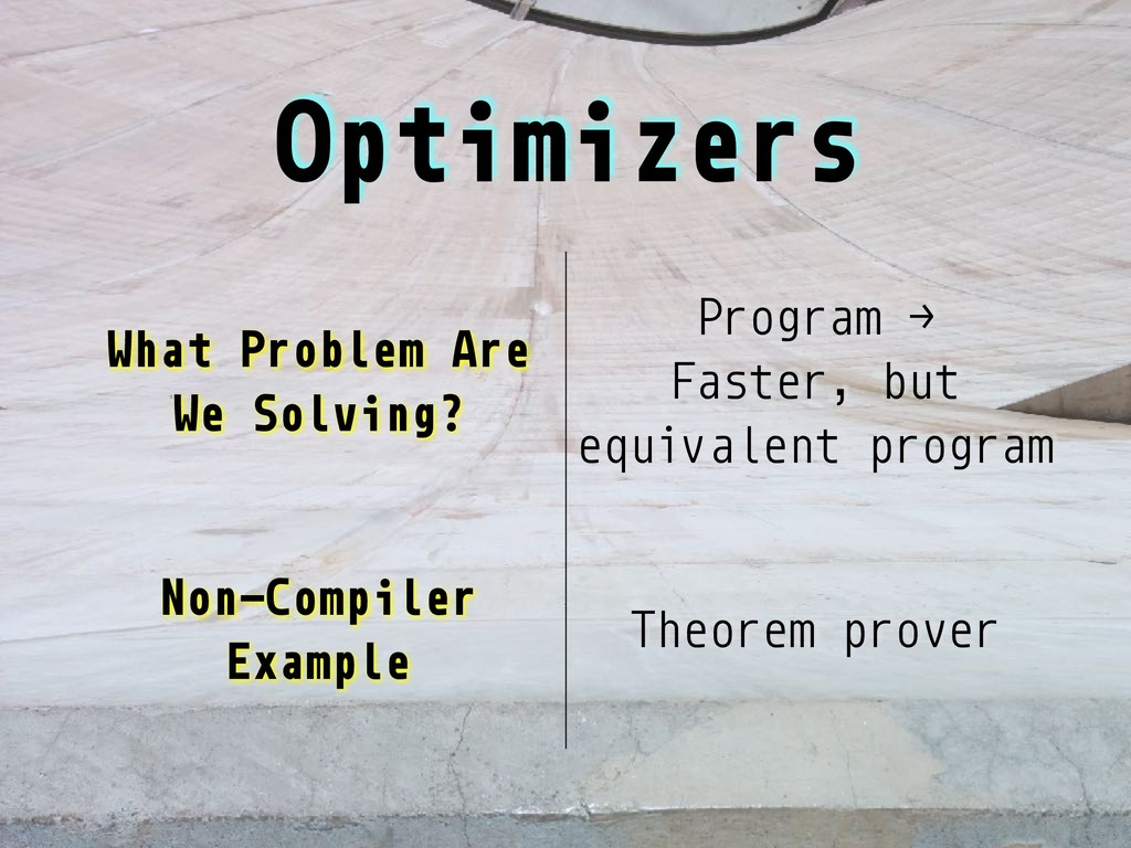 Optimizers What Problem Are We Solving? Program...