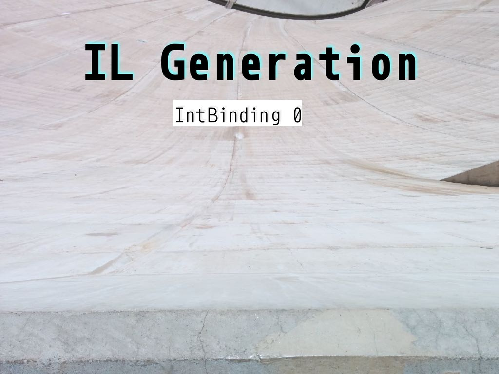 IL Generation IntBinding 0