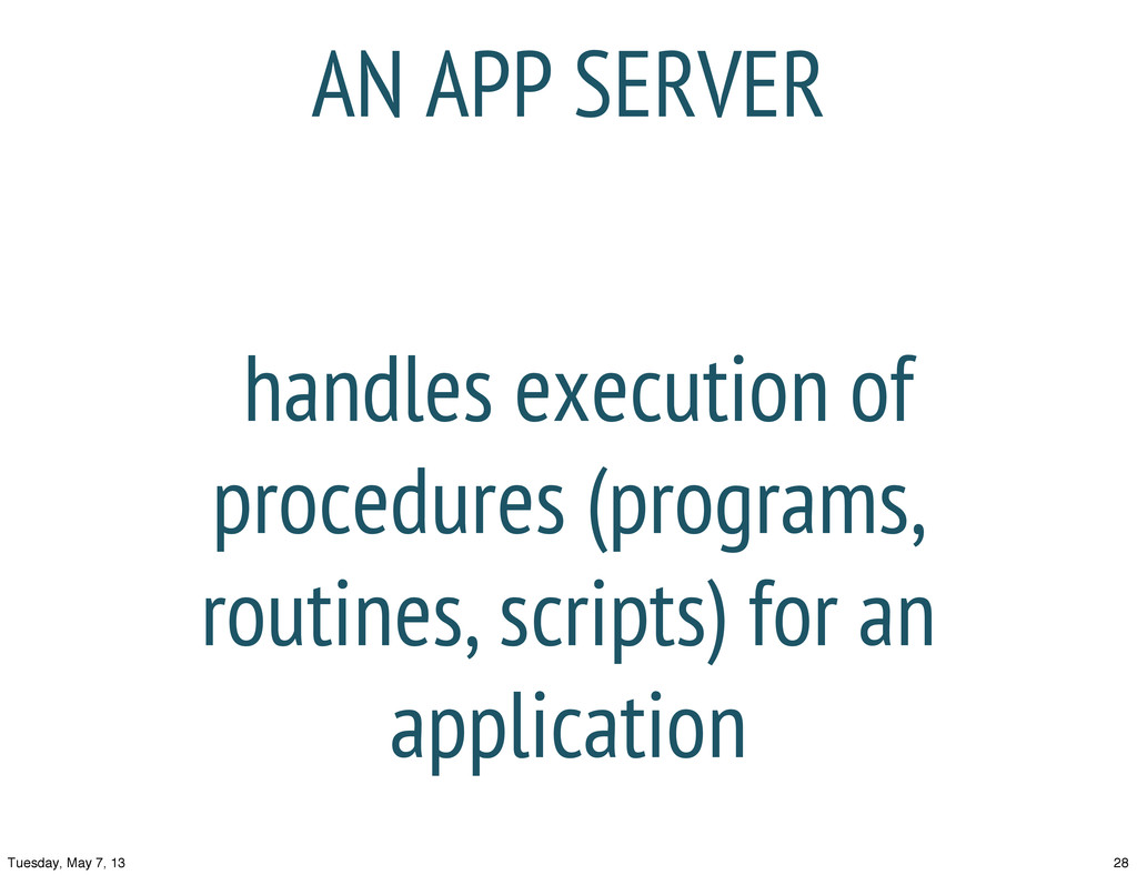 handles execution of procedures (programs, rout...