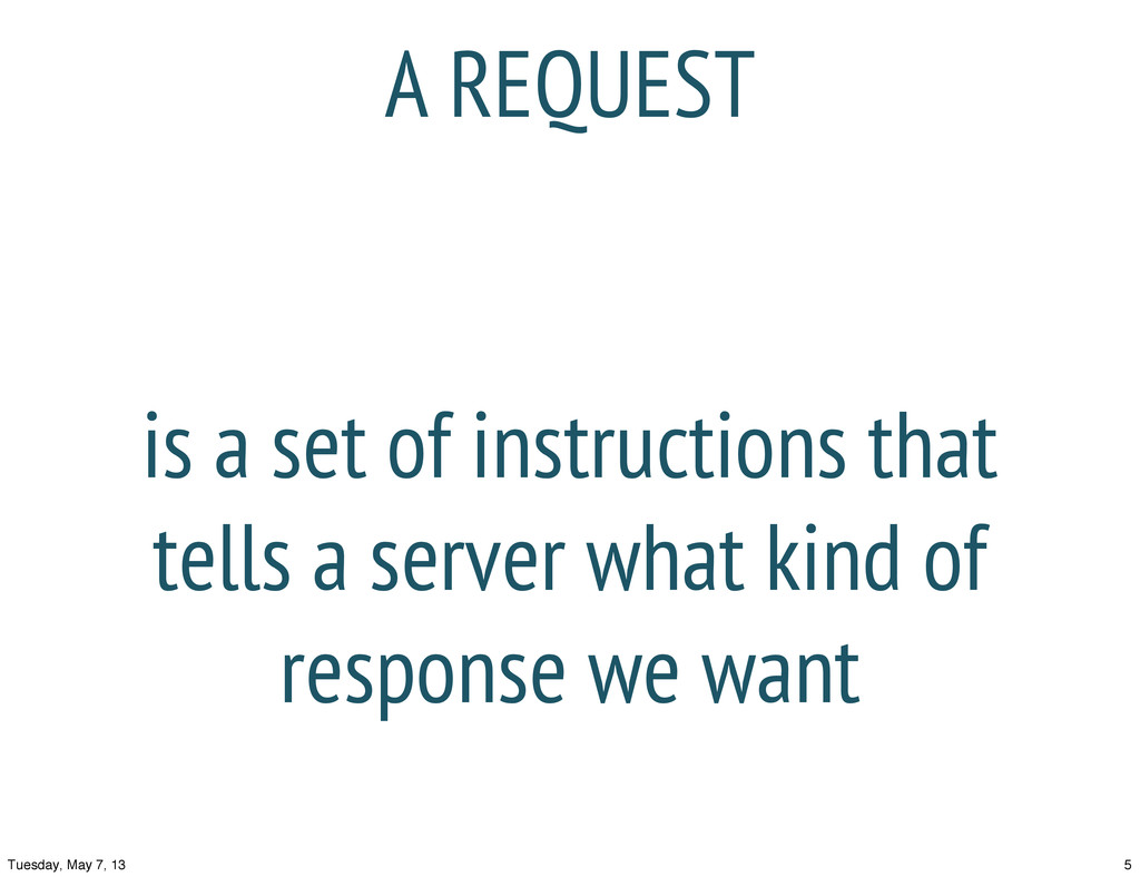 is a set of instructions that tells a server wh...