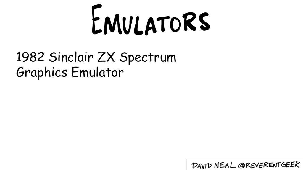 1982 Sinclair ZX Spectrum Graphics Emulator