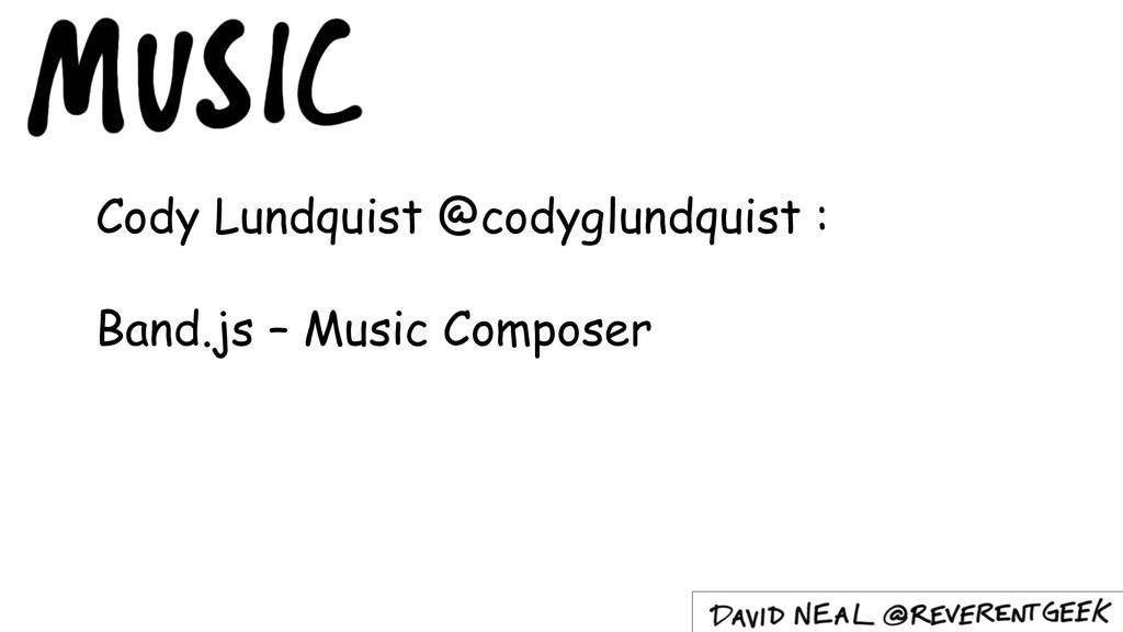 Cody Lundquist @codyglundquist : Band.js – Musi...