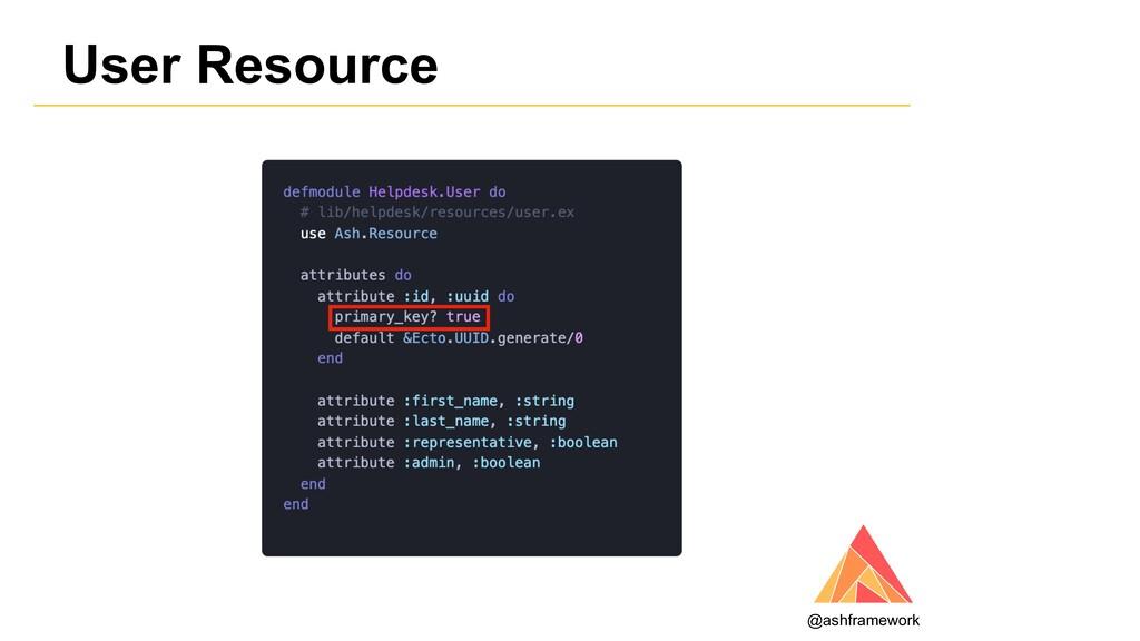 User Resource @ashframework