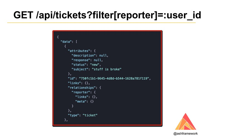 GET /api/tickets?filter[reporter]=:user_id @ash...