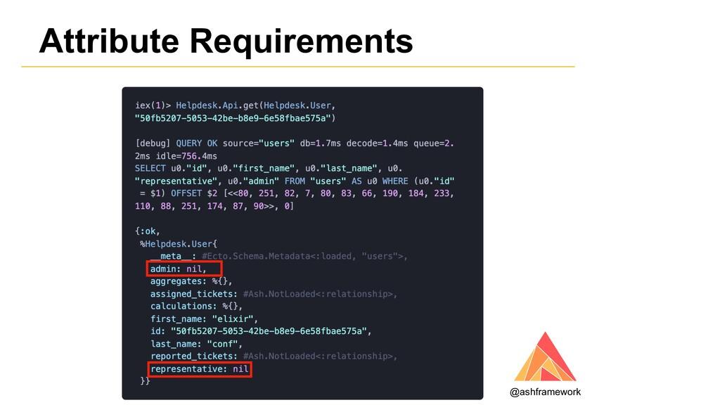 Attribute Requirements @ashframework