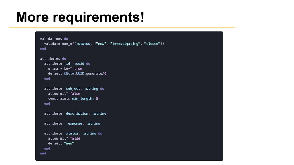 More requirements!