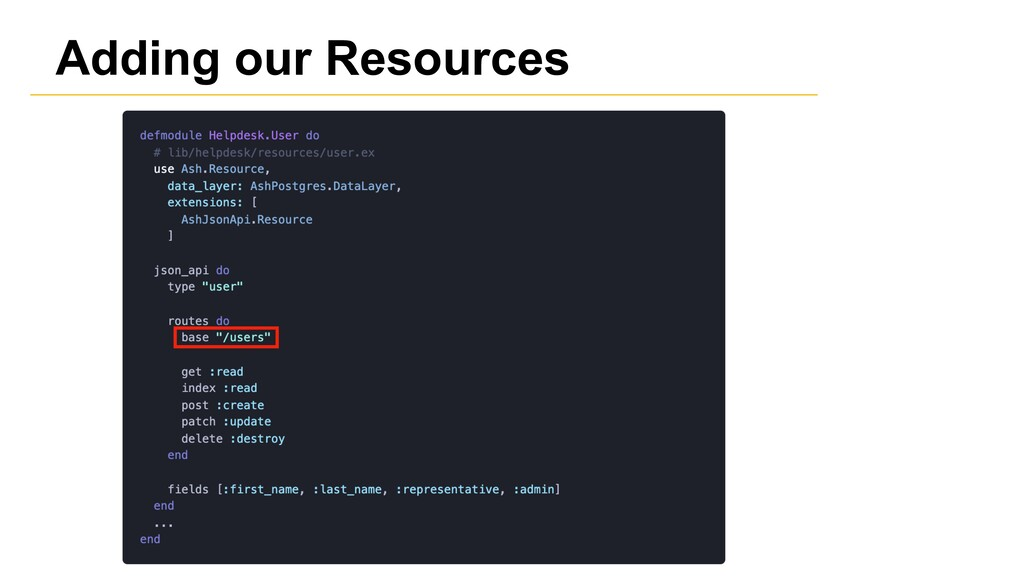 Adding our Resources