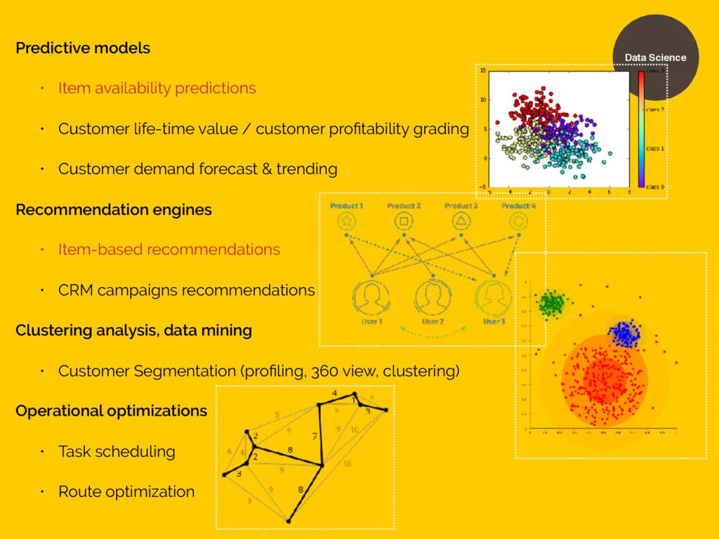 Predictive models • Item availability predictio...