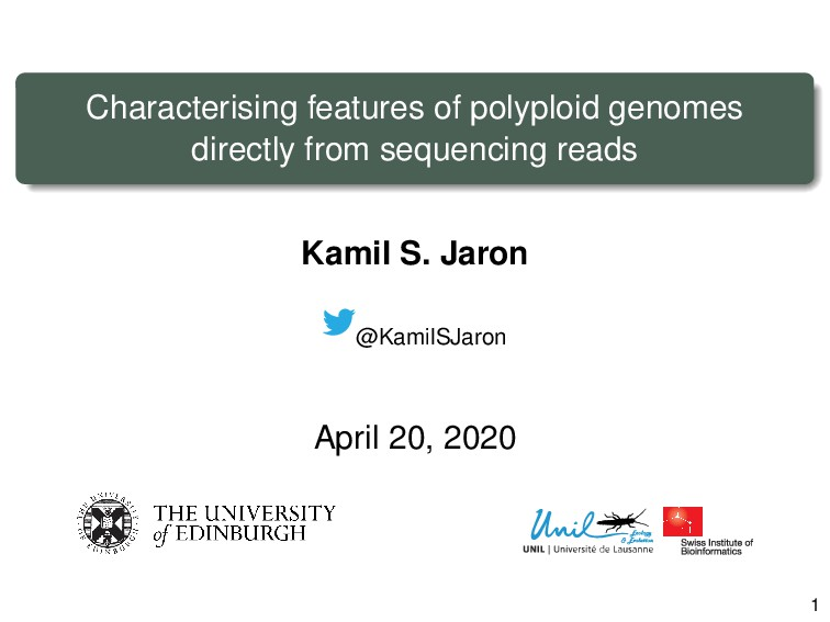 Characterising features of polyploid genomes di...