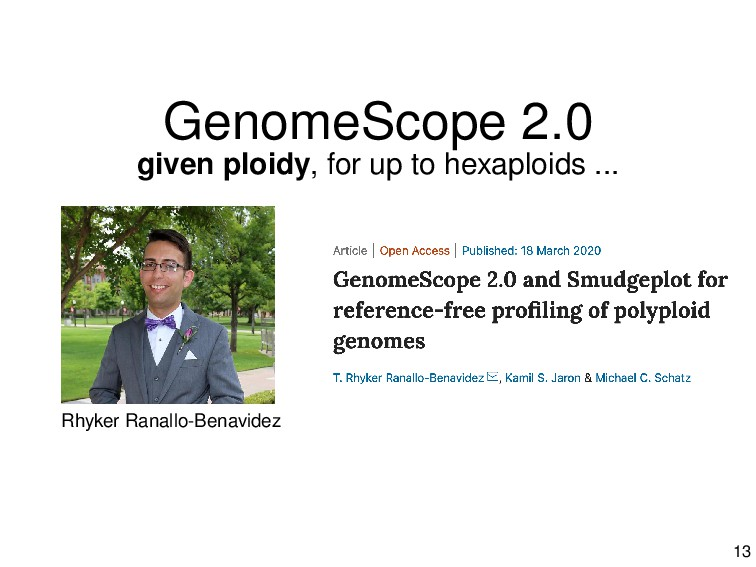 GenomeScope 2.0 given ploidy, for up to hexaplo...