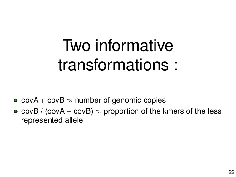 Two informative transformations : covA + covB ≈...
