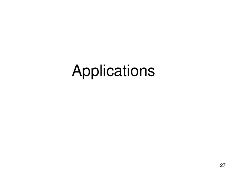 Applications 27