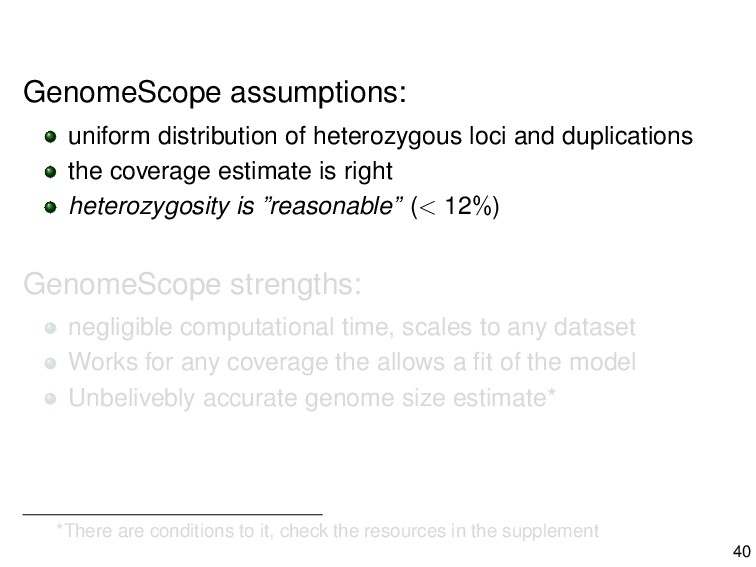 GenomeScope assumptions: uniform distribution o...