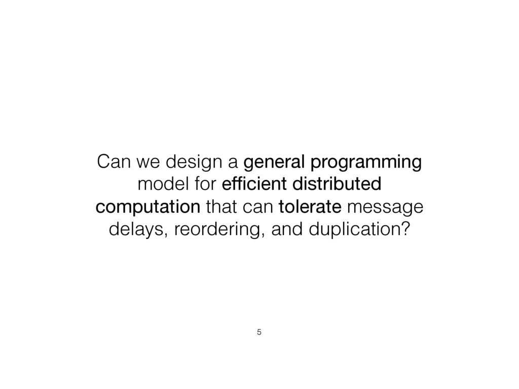 Can we design a general programming model for e...