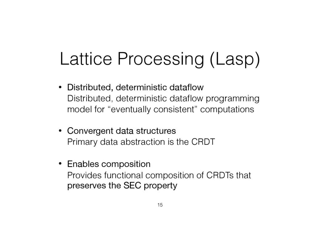 Lattice Processing (Lasp) • Distributed, determ...