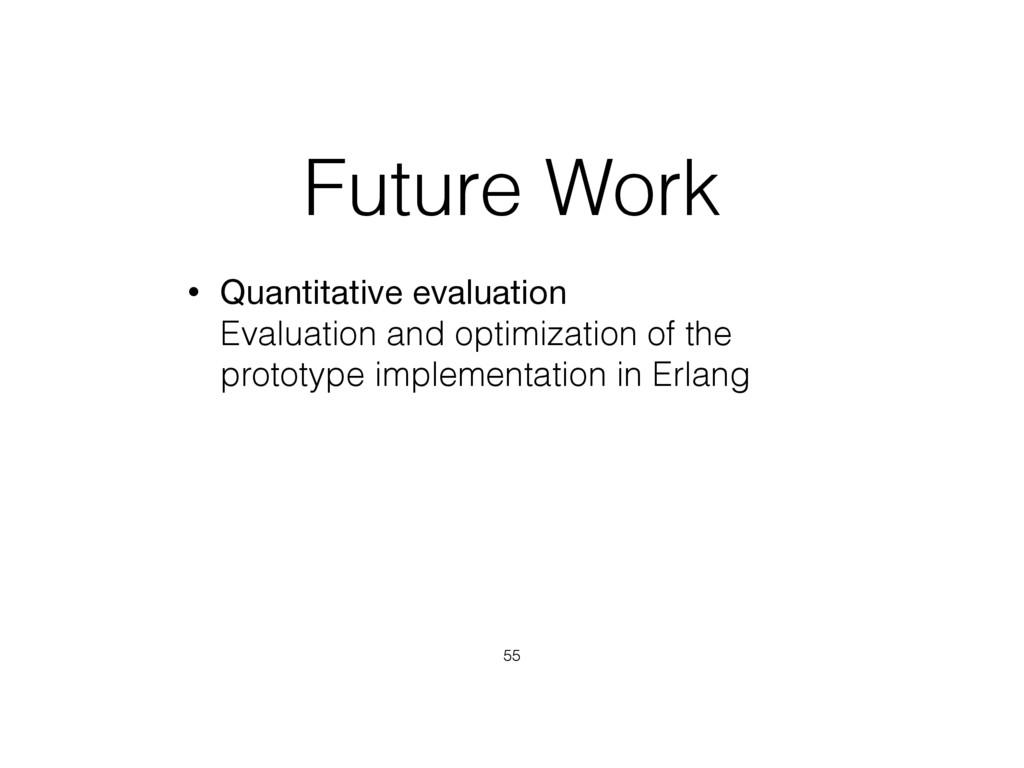 Future Work • Quantitative evaluation Evaluati...
