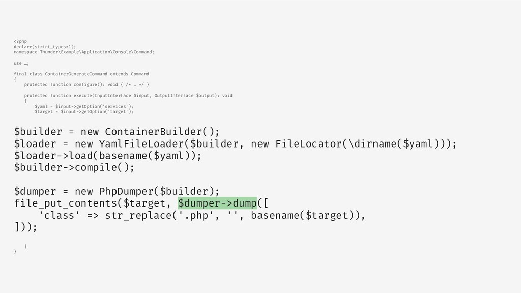 <?php declare(strict_types=1); namespace Thunde...