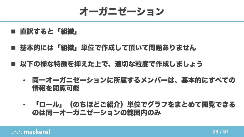 29 / 61 ΦʔΨχθʔγϣϯ n ༁͢Δͱʮ৫ʯ n جຊతʹʮ৫ʯ୯ҐͰ࡞͠...