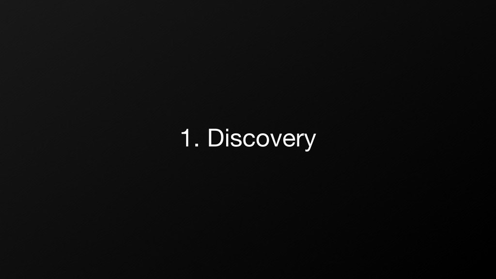 1. Discovery