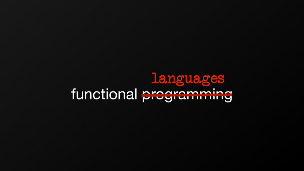 functional programming languages