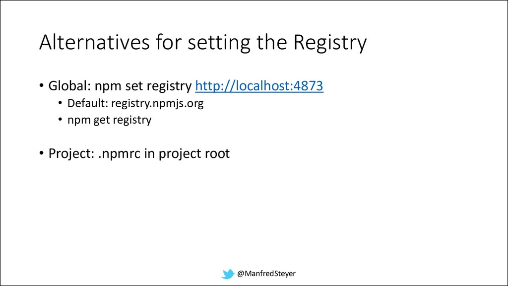 @ManfredSteyer Alternatives for setting the Reg...