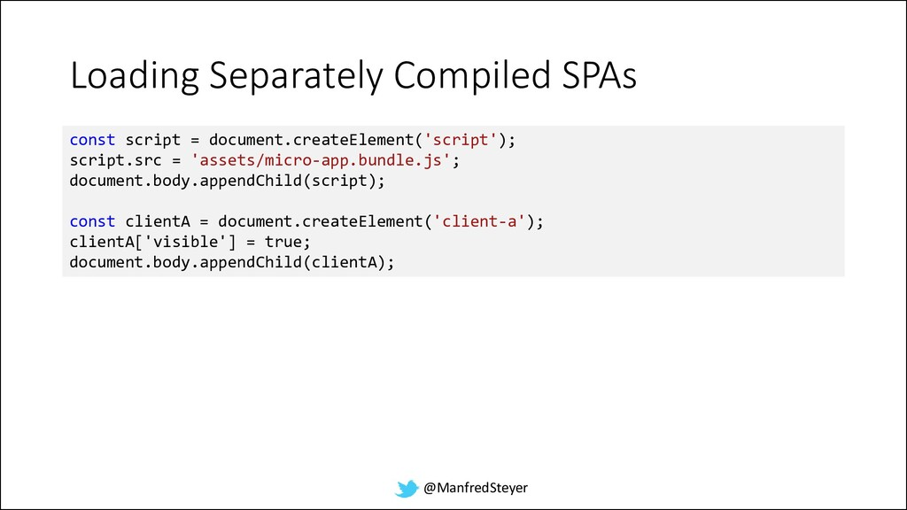 @ManfredSteyer Loading Separately Compiled SPAs...