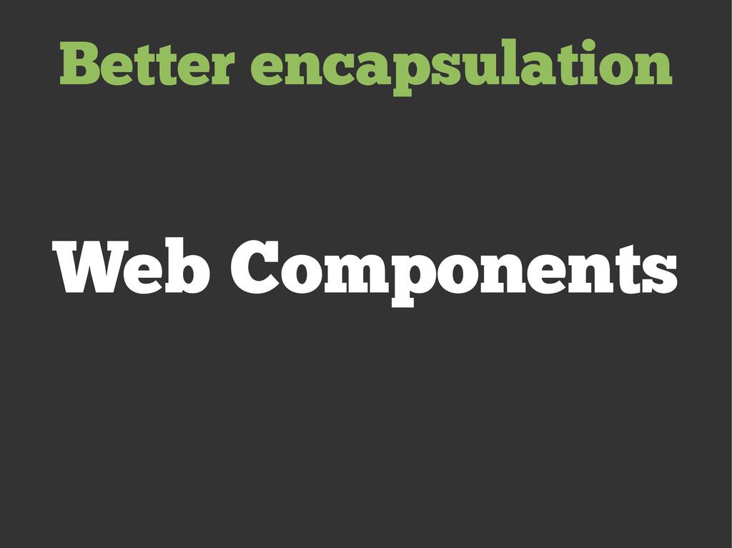 Web Components Better encapsulation