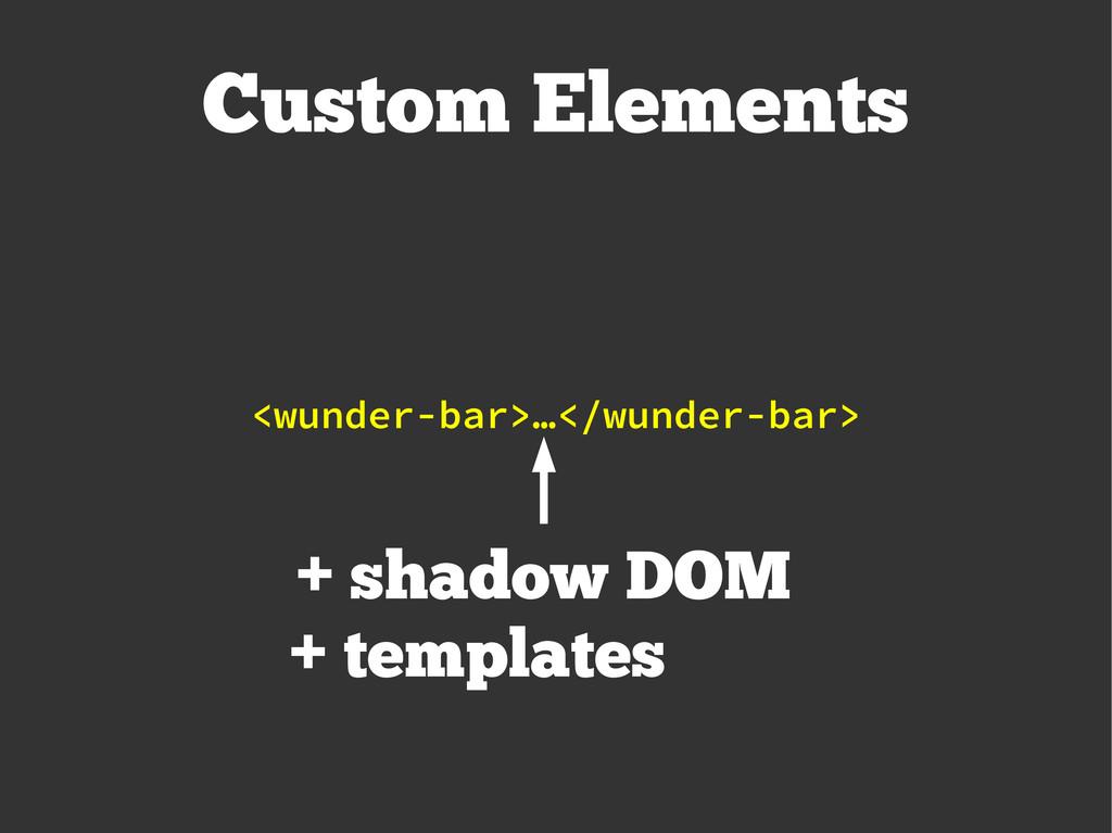 Custom Elements <wunder-bar>…</wunder-bar> + sh...
