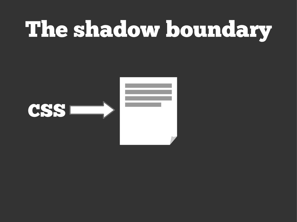 The shadow boundary CSS