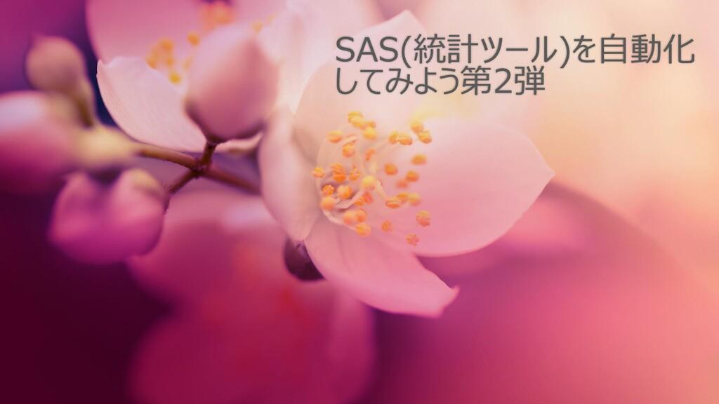 SAS(統計ツール)を自動化 してみよう第2弾