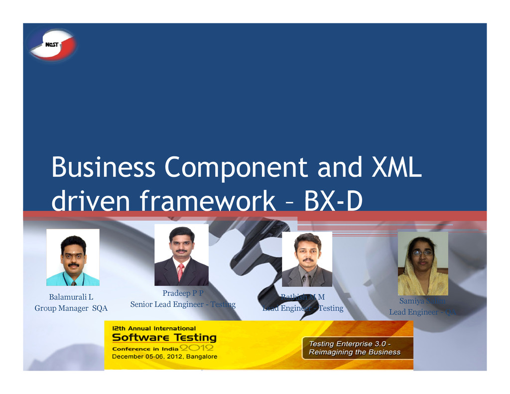Business Component and XML driven framework – B...
