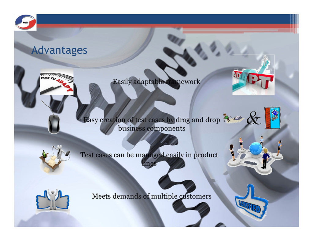 Advantages Easy creation of test cases by drag ...