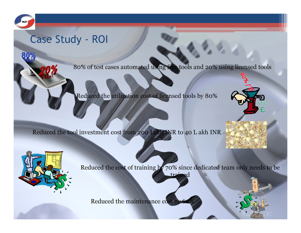 Case Study - ROI 80% of test cases automated us...