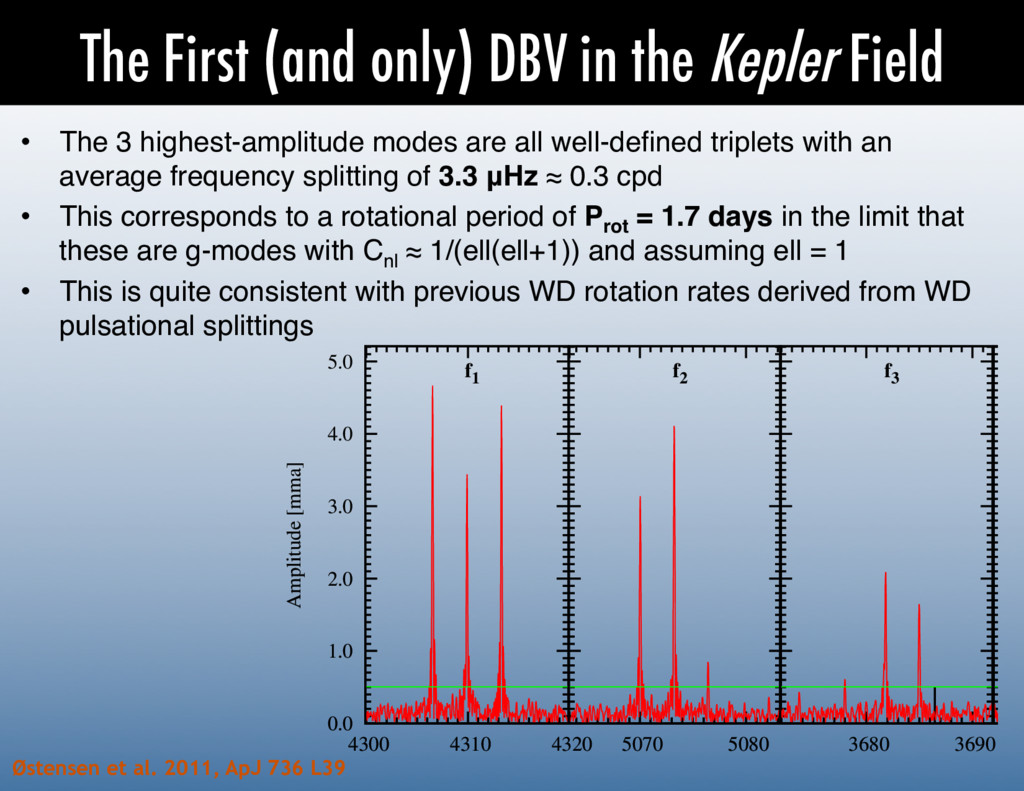 The First (and only) DBV in the Kepler Field • ...