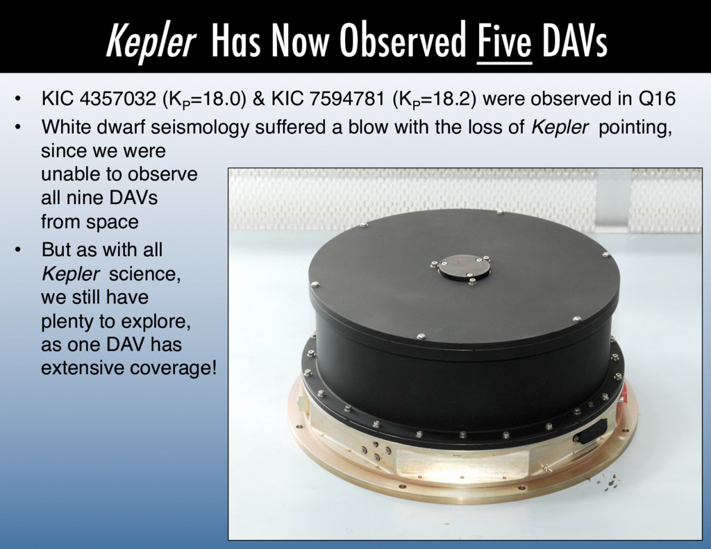 Kepler Has Now Observed Five DAVs •  KIC 435703...