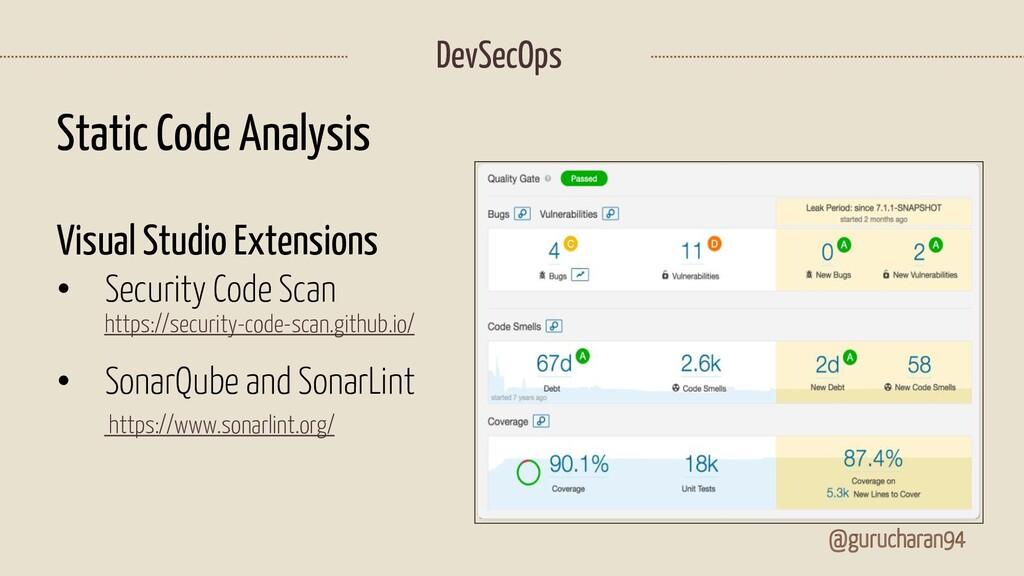 @gurucharan94 DevSecOps Static Code Analysis Vi...