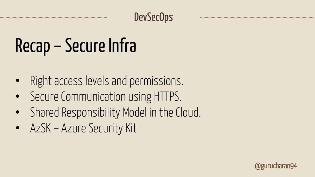@gurucharan94 DevSecOps Recap – Secure Infra • ...