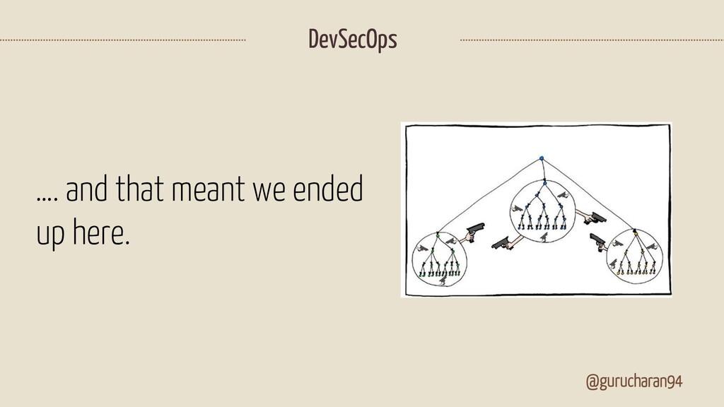 DevSecOps @gurucharan94 …. and that meant we en...
