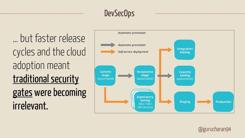 DevSecOps @gurucharan94 … but faster release cy...