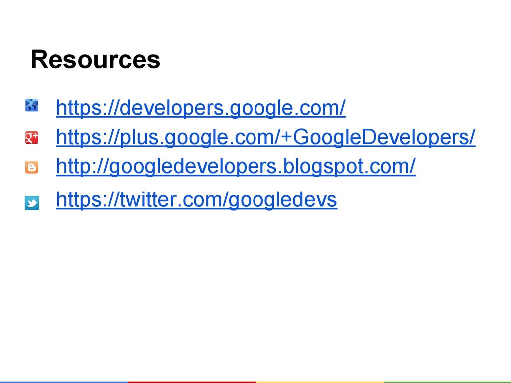 Resources https://developers.google.com/ https:...