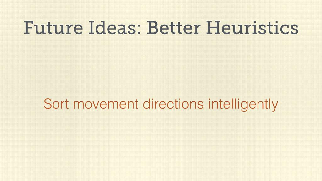 Future Ideas: Better Heuristics Sort movement d...