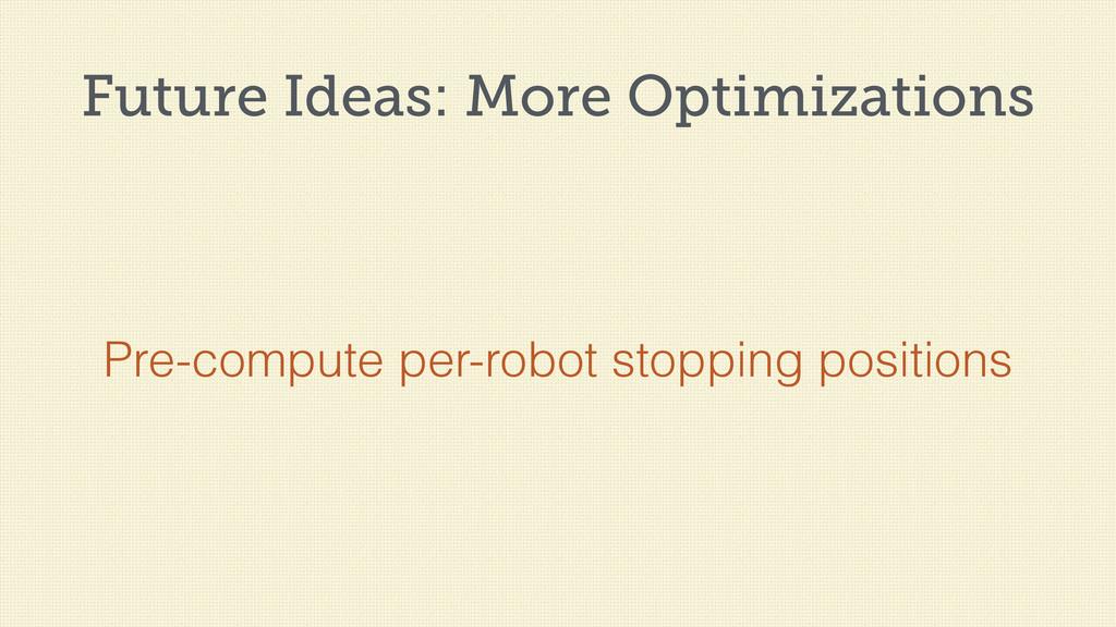 Future Ideas: More Optimizations Pre-compute pe...