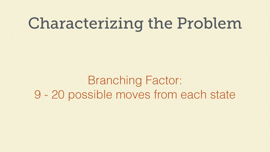 Characterizing the Problem Branching Factor: 9 ...