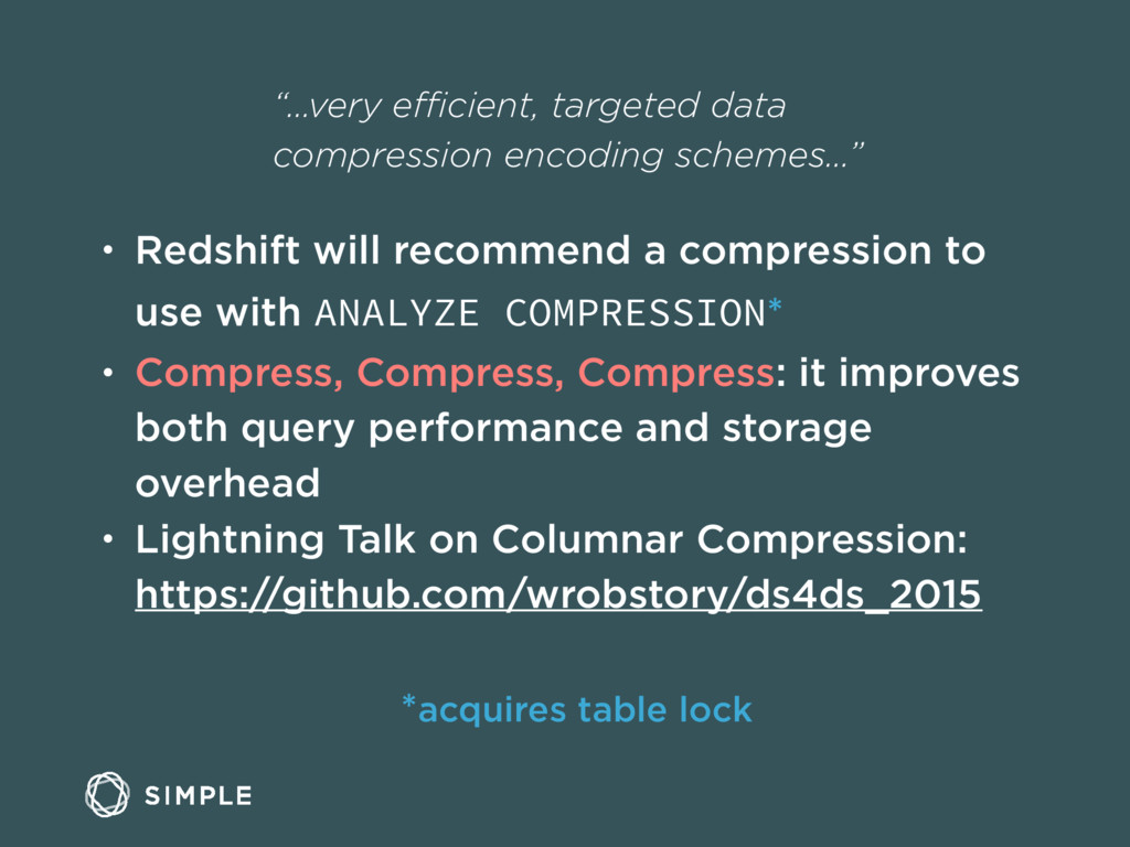 """…very efficient, targeted data compression encod..."