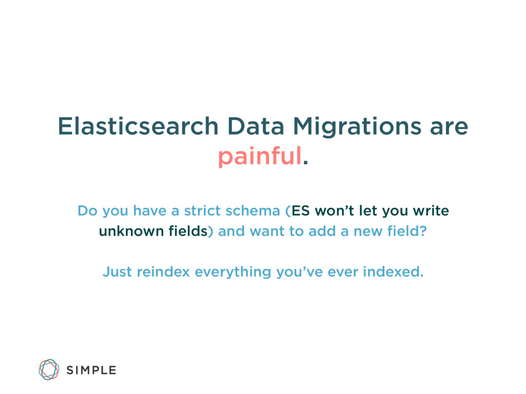 Elasticsearch Data Migrations are painful. Do y...