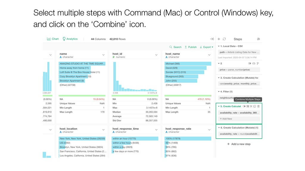Select multiple steps with Command (Mac) or Con...