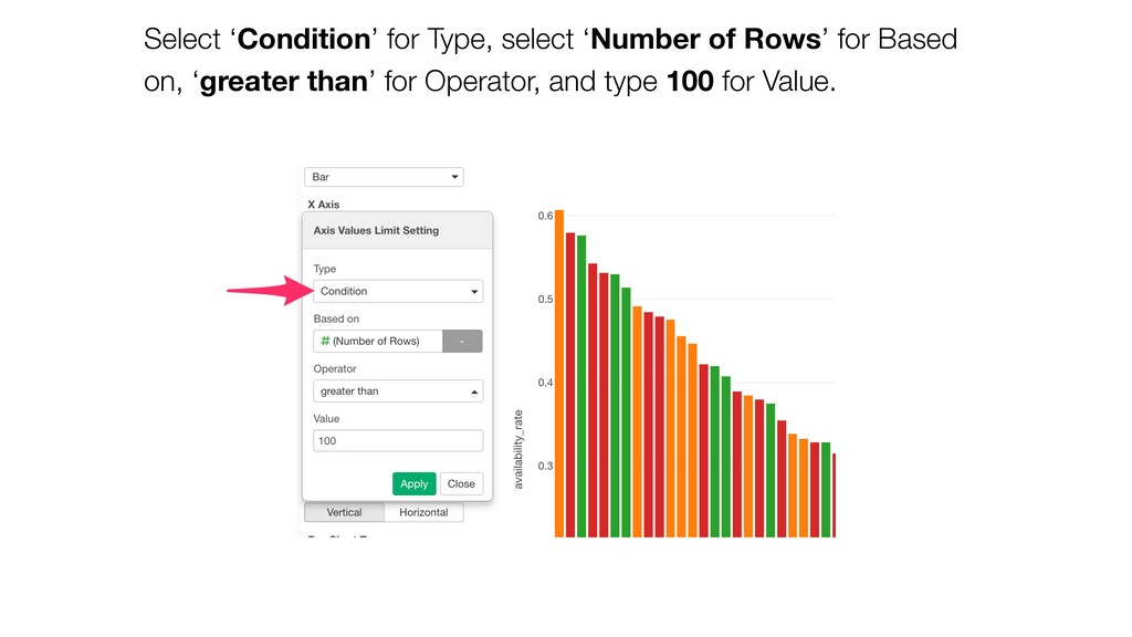 Select 'Condition' for Type, select 'Number of ...